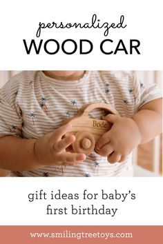 Personalized love bug wooden car is classic and timeless must-have wood toy all children! Ideal for any age, be it baby's first toy car, a special gift for a toddler's birthday, or a handmade addition to a preschooler's fleet. Simple, safe for all, and drives like a charm. #babytoy #babygift Bug Car, Wooden Car, Childrens Gifts, Baby First Birthday, Love Bugs, Wood Toys, Baby Toys, Special Gifts, First Birthdays
