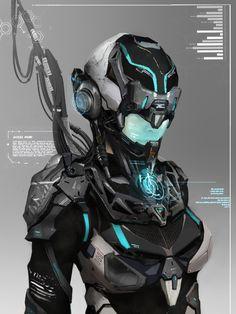 ArtStation - Sci-fi character, Sail Lin