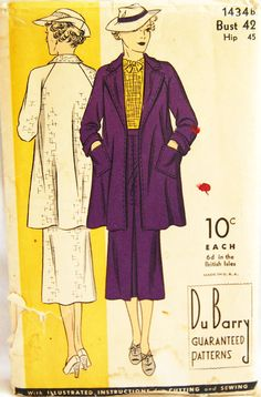 Vintage 1930s DuBarry Women's Misses' Swagger by NostalgiaVintage2, $45.00