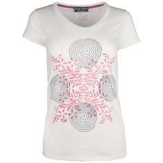 d9e235580758e1 Damen T-shirt mit Handdruck altrosa grau. Dieses schlichte T-Shirt mit