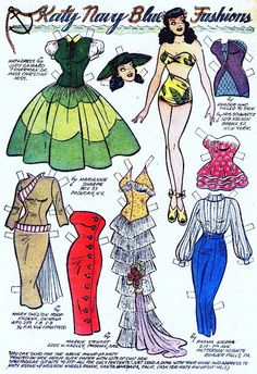Kathy Keene but several of these clothes fit Gloria, and she must keep her closet full.