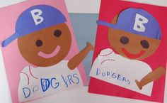 Jackie Robinson Craft for Black History Month, sports, or baseball theme