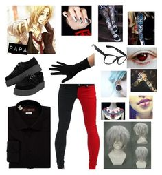 """hetalia oc"" by dinobuggy ❤ liked on Polyvore featuring Hickey Freeman, Sourpuss and Hot Topic"