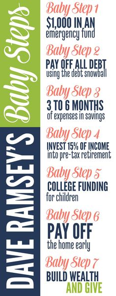 The financial peace planner dave ramsey baby steps .