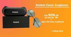 Buy Reebok Classic Sunglasses at Just Rs. 199 Plus Upto 5% Cashback from HUJUM.COM #ShopcluesCoupons #ShopcluesCashback #ReebokSunglasses