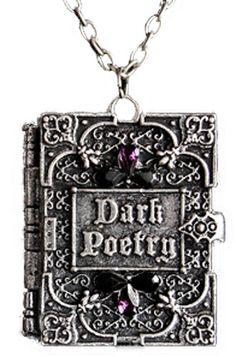 Dark Poetry Locket Necklace