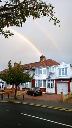 Rainbow over Redbridge.