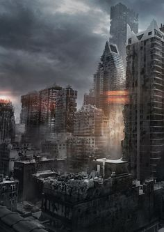 city 1 Writing Tips: 5 Tips to Writing A Dystopian Story I'm not a huge fan of those books(mostly because the authors have no idea how to write one.) but I'll read it for future reference Story Inspiration, Writing Inspiration, Arte Zombie, Post Apocalyptic Art, Science Fiction, Apocalypse Art, Writing Tips, Writing Resources, Writing Help