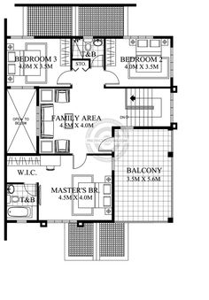 Contemporary House Plans Featuring Florante Model is a 4 bedroom with 3 toilet and bath 2 story house to fit perfectly on a 211 sq. 4 Bedroom House Designs, 4 Bedroom House Plans, House Floor Plans, 2 Storey House Design, Australia House, House Construction Plan, Architectural House Plans, Model House Plan, Contemporary House Plans