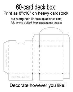 The astounding 60 Card Deck Box Template For Magic, Pokemon, Yu Gi Oh, Etc For Card Box Template Generator images … Deck Box, Diy Card Box, Diy Cards, Yu Gi Oh, Pokemon Card Box, Pokemon Card Template, Deck Of Cards, Card Deck, Pokemon Deck