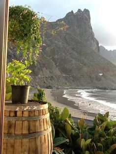 ROQUE DE LAS BODEGAS Black Sand, Canario, Winter House, Canary Islands, Places To See, World, Beaches, Travel, Love