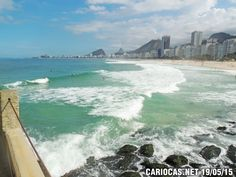 Praia do Leme às 12:30h desta terça (19/05/15)