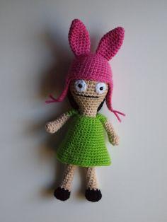 Louise Belcher Crochet Amigurumi Puppe Bobs Burger von HamAndEggs