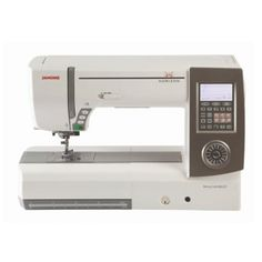 Janome Memory Craft 8900QCP Sewing Quilting Machine. This one has remote thread cutter option attached to foot pedal.