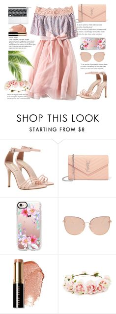 """""""flowers everywhere 🌹🌸🌸🌸🌸🌸"""" by naomy-nona ❤ liked on Polyvore featuring Yves Saint Laurent, Casetify, Topshop, Bobbi Brown Cosmetics and Forever 21"""