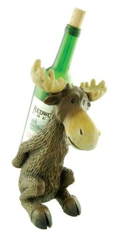 Let the moose hold your wine - this cute wine holder is the perfect accent for a camp kitchen. Makes a great gift item for camp lovers too! Margaret River Wineries, Wine Rack Cabinet, Wine Racks, Moose Deer, Wildlife Decor, Wine Bottle Holders, Wine Delivery, Cozy Cabin, Reno