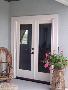 Exterior french doors on pinterest sliding french doors for Double patio doors exterior