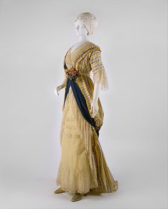 Dress Made Of Silk, Made By The House Of Drecoll - French   c.1912   -   The Metropolitan Museum Of Art