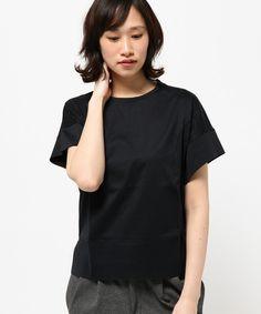 Calvin Klein women(カルバン・クライン ウィメン)のリキッドマーセライズドコットン カットソー(Tシャツ/カットソー)|ネイビー系