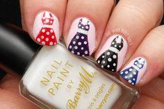 \(^o^)/~ Challenge: Polka Dot Dresses Crazy Nail Art, Cute Nail Art, Colorful Nail Designs, Nail Art Designs, Polka Dot Nails, Polka Dots, Wow Nails, Lavender Nails, Nail Art Studio