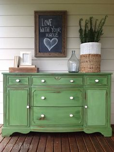 furniture feature friday | favorites & link party - Miss Mustard Seed | green buffet