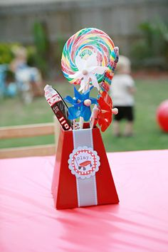 cute idea for any party to hold treats and goodies