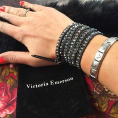 Victoria Emerson Chameleon bracelet Authentic black bracelet by Victoria Emerson. Got is as a gift but it is too small!!!I am super upset. But at least someone else will enjoy! So wrist size 5/6/7 inches. You can play with it. Good luck! Victoria Emerson Jewelry Bracelets