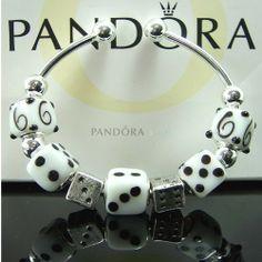 Pandora love the bracelet. One dice charm