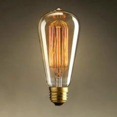 Foco Edison Vintage Filamento Pera St64 Incandescente 40w