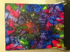 Melted crayon, my version of the universe.
