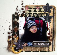 A scrapbooking layout with my little boy!