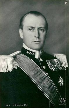 The future King Olaf V. of Norway