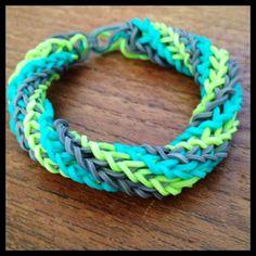 Rainbow Loom triple cross spiral twist bracelet.