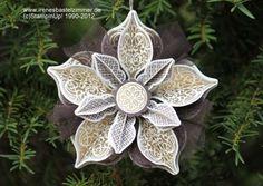 Ornament Keepsakes-Big Shot-Winter Saison Katalog-Prägepulver gold-Tüllband-Stanzer