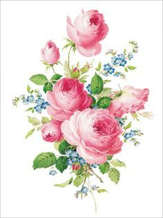 Pink roses and forge