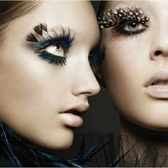 Peacock and owl lashes!