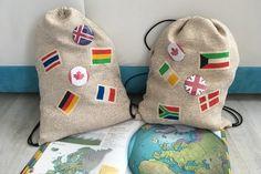 Léto je časem cestování a výletů. Vyrobte svým dětem batůžky pro světoběžníky. #children #travel #ideas