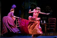 Harriet Harris, left, and Laura Osnes in Cinderella-an article about quick change in theater