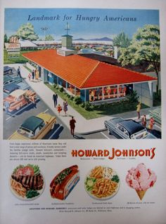1957 Howard Johnsons Restaurant and Motor Lodge Vintage Advertisement by RelicEclectic, $8.00