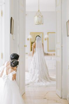 A precious moment. Photo-ops with your bridesmaids are endless, but don't forget about honoring those special little ladies — your flower girls! This sweet shot by @thekomans is totally frame-worthy! 📸 #stylemepretty #flowergirls #weddingphotos #weddingideas #weddingmoment Wedding Bride, Wedding Day, Wedding Dresses, Bride Groom, Fit And Flare Wedding Dress, Bridesmaid Robes, Bridesmaids, Bridal Robes, Wedding Photography Tips