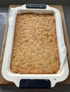 lemon weetbix slice recipe by vj cooks Lemon Recipes, Sweet Recipes, Baking Recipes, Cake Recipes, Tray Bake Recipes, Baking Desserts, Yummy Recipes, Dessert Recipes, Yummy Food