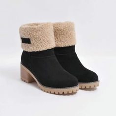 reputable site a1375 384a1 Chellysun Winter Shoes Fur Warm Snow Boot