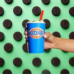 Hello, Mint BLIZZARD of the Month with cool créme de menthe. Served upside down or your next one's free. Queens Food, Mint Oreo, Dairy Queen, Frost
