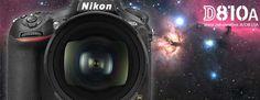 Presentata la Nikon D810A, una reflex full-frame appositamente sviluppata per l'astrofotografia con filtro ottico specializzato nella banda IR a 656nm.