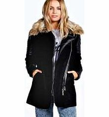 boohoo Tia Faux Fur Collar Biker Coat - black azz14372 Breathe life into your new season layering with the latest coats and jackets from boohoo. Supersize your silhouette in a quilted jacket, stick to sporty styling with a bomber, or protect yourself from http://www.comparestoreprices.co.uk/womens-clothes/boohoo-tia-faux-fur-collar-biker-coat--black-azz14372.asp