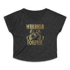 Wakanda Forever Black Panther Women's Tri-Blend Dolman T-Shirt Black Panther, T Shirt, Tops, Fashion, Supreme T Shirt, Moda, Tee, Fashion Styles, Black Panthers