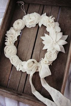 Christmas Wreath using Felt Flowers