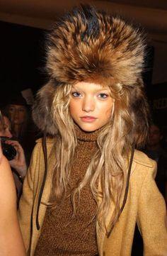 fur hat.