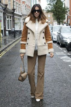 How to wear shearling and more fall and winter trends, straight from London's street style stars