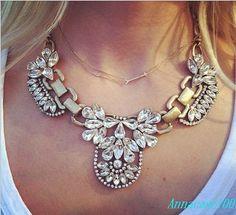 Statement Necklace Beadwork Necklace Brass Resin door annacase100